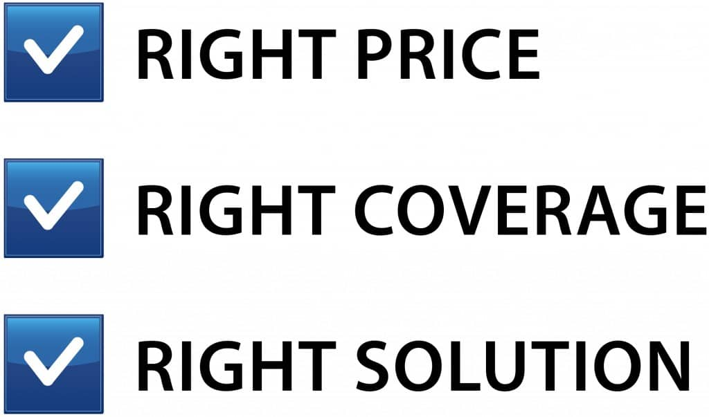Right Price, Coverage, Solution