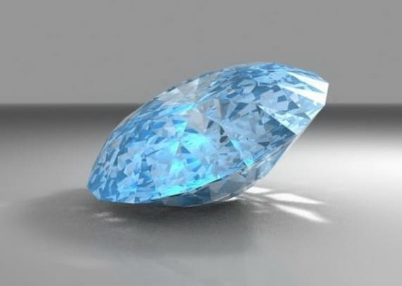 Blue Valuable Diamond